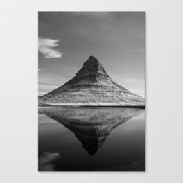 The Kirkjufell mirror Canvas Print