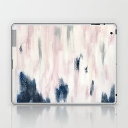 Blush Pink and Blue Pretty Abstract Laptop & iPad Skin