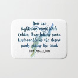 Lightning made flesh | Roar Bath Mat