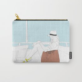 Fashion Girl on the Ferry Carry-All Pouch