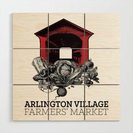 Arlington Village Farmers Market Wood Wall Art