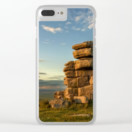 Warming the stones. Clear iPhone Case