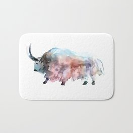 Wild yak 2 / Abstract animal portrait. Bath Mat
