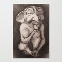 gnome Canvas Prints featuring Gnome by Brandon Waite