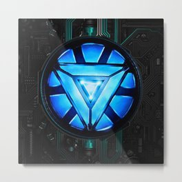 Arc Reactor Metal Print