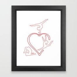 Great T-Shirt For Gymnastics Lover. Gift For Daughter/Girls. Framed Art Print