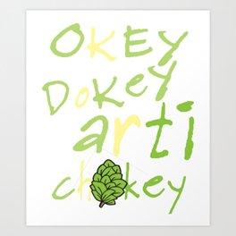 Funny Vegan Artichoke Vegetable product Art Print