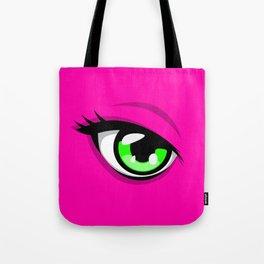 Confident Pink Heroine Tote Bag