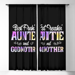 Best Freakin' Auntie And Godmother Ever Watercolor Best Freakin' Auntie And Godmother Ever - Blackout Curtain
