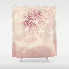dandelion postcard Shower Curtain