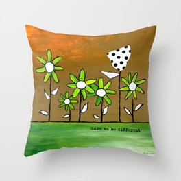 """""""Dare To Be Different"""" Original design by PhillipaheART Throw Pillow"""