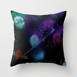Planetary Drift Throw Pillow