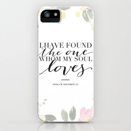 Song of Solomon 3:4 iPhone Case