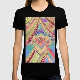 Rise and Shine - Rainbow Hued, Multi-Colored Doodle T-shirt