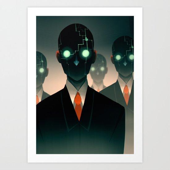 Microchip mind control Art Print