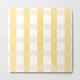 Plaid - Yellow Metal Print