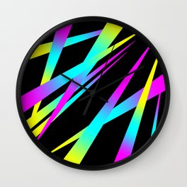 Spikes CYMK (black) Wall Clock