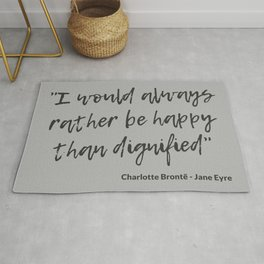 Jane Eyre Quote I Rug