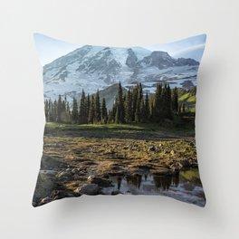 Mazama Ridge Trail Throw Pillow