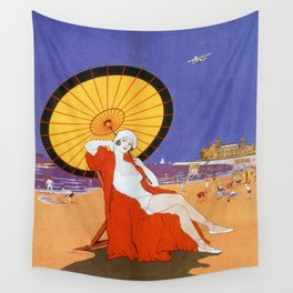 Ostend Queen of beaches jazz age Wall Tapestry
