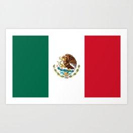 Mexican flag of Mexico Kunstdrucke