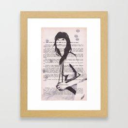 Bretelle on the rocks Framed Art Print