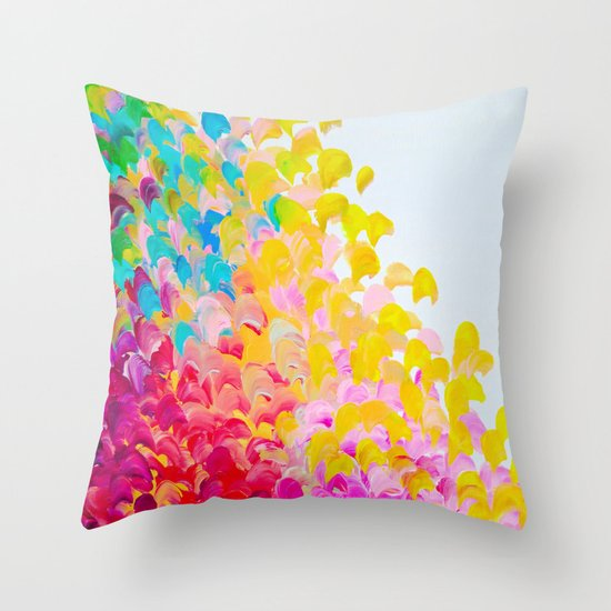 Throw Pillows Bright Colors : CREATION IN COLOR - Vibrant Bright Bold Colorful Abstract Painting Cheerful Fun Ocean Autumn ...