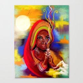 March Aura Goddess Canvas Print