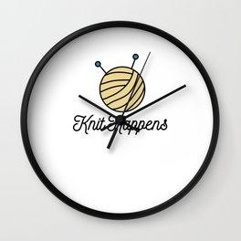 Knit Happens - Funny Knitting Wall Clock