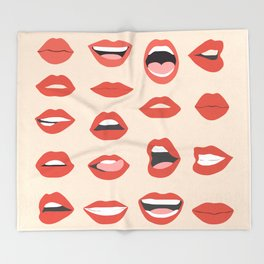 Lips III Throw Blanket