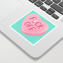 Fuck Off Candy Heart Sticker