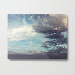Clouds Blue Sky Metal Print