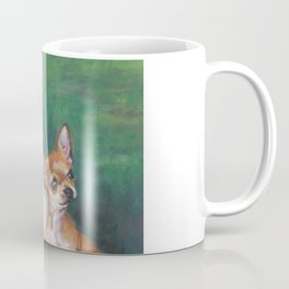 Chihuahua Fine Art Dog Painting from an original painting by L.A.Shepard Coffee Mug