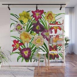Display of daylilies I Wall Mural