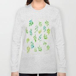 180726 Abstract Leaves Botanical 18  Botanical Illustrations Long Sleeve T-shirt