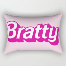 Bratty Barbie Logo for the little in your life who loves Age Play Rectangular Pillow