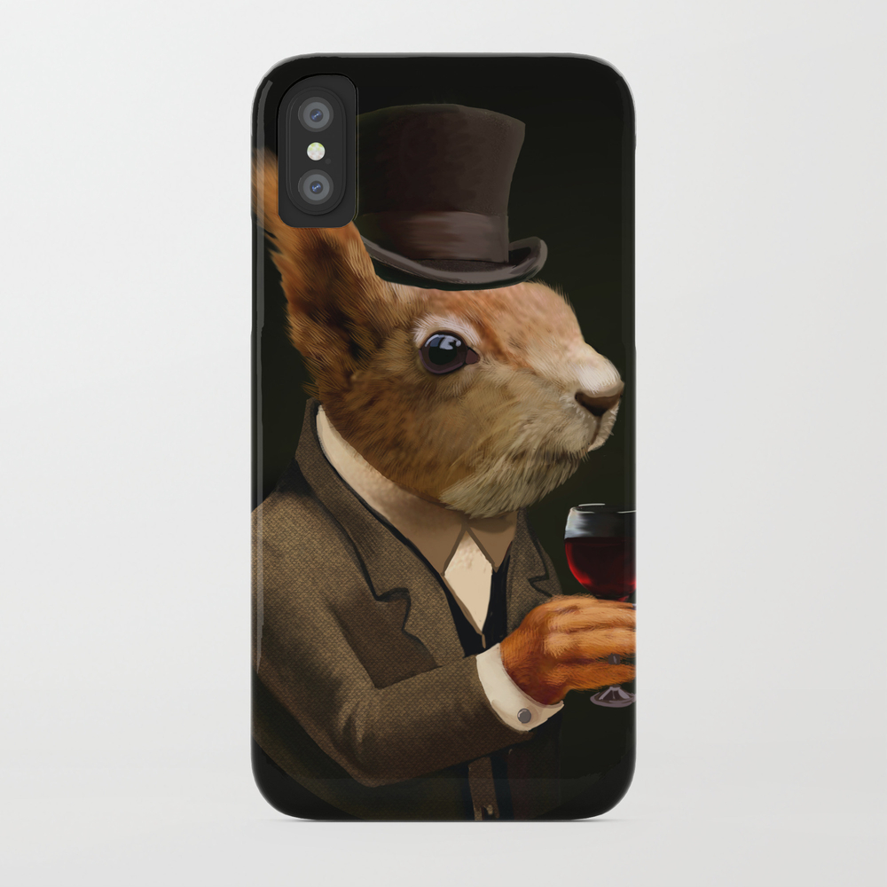 Sophisticated Pet -- Sqirrel In Top Hat With Glass… Phone Case by Kluva PCS4289041