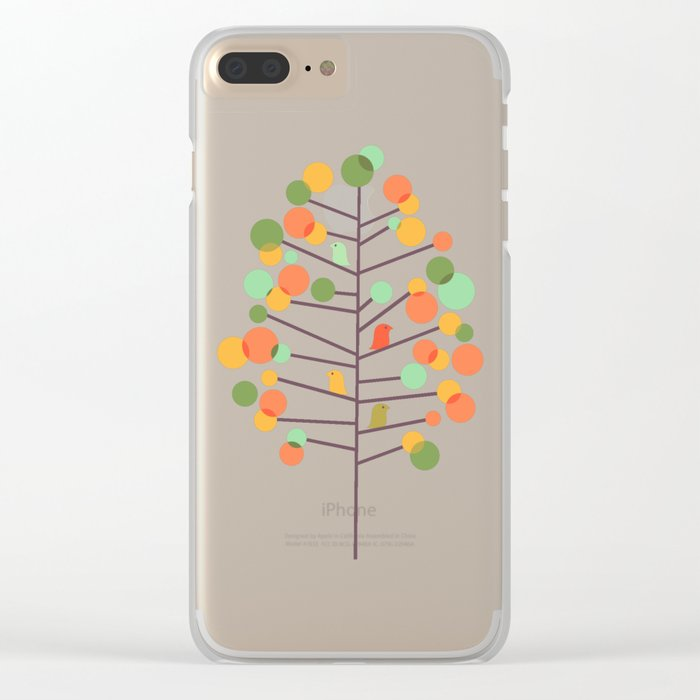 Happy Tree - Tweet Tweet Clear iPhone Case