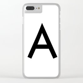 Alphabet A Clear iPhone Case