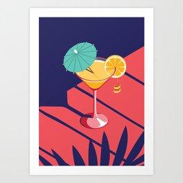 Summer Cocktail Series - Sunset Art Print