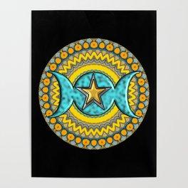 Triple Moon Symbol. Poster
