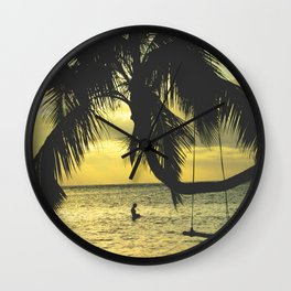 Sunset on the Island Wall Clock
