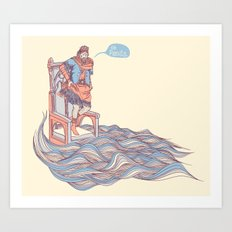 Canute. Art Print