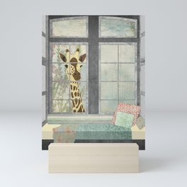 Bay Window Giraffe Mini Art Print