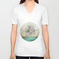cherry blossom V-neck T-shirts featuring Cherry Blossom  by aRTsKRATCHES