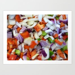 Onions and Bell Peppers Art Print