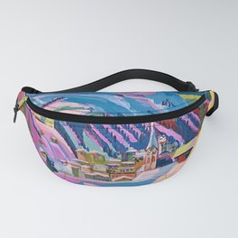 Davos, Swiss Alps in Winter Mountain Landscape by Ernst Ludwig Kirchner Fanny Pack