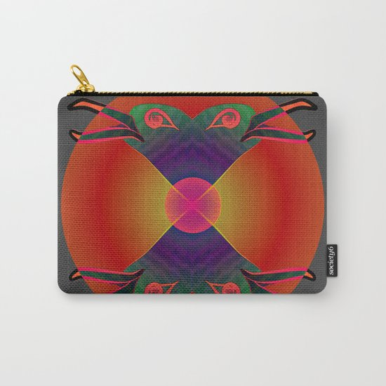 Red Kiss / Love Symbol / Pattern 12-01-17 Carry-All Pouch