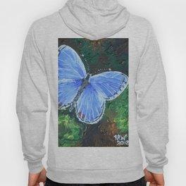 Blue Morpho Butterfly Hoody