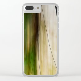 Forest, Water, Lines Clear iPhone Case